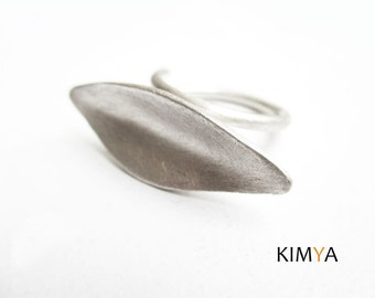 Contemporary Silver Ring - Statement Ring - Rustic Silver Adjustable Ring - Large Simple Modern Ring - Aroma Ring - Contemporary Jewelry