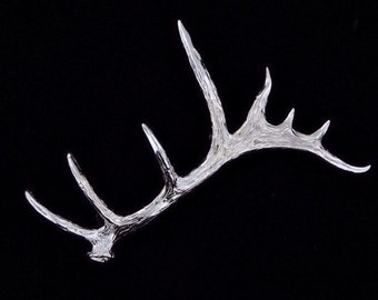 Sterling Silver Large Palmated Bull Elk Antler Pin