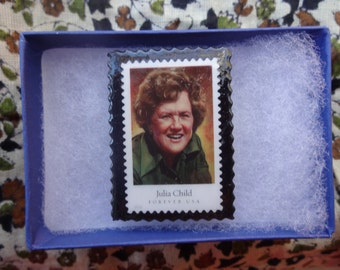 Julia Child Postage Stamp Pin