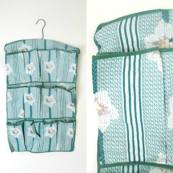 Fabric Shoe Organizer Hanging Storage Bag 1940s 1950s Home