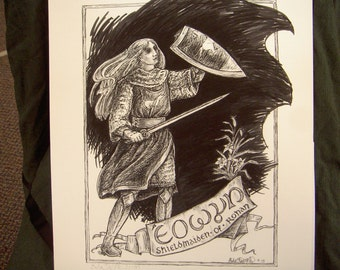 Shieldmaiden of Rohan print (Eowyn)