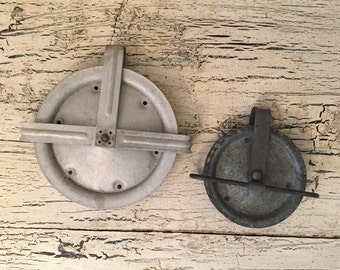 Vintage Laundry Pulleys - Set of 2
