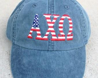 Alpha Chi Omega American Flag Cap