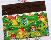 Barn Quilts Sunflowers Cross Stitch, Embroidery Project Bag