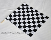 Reserved for Elizabeth:  Custom Poly China Silk Baton Flags