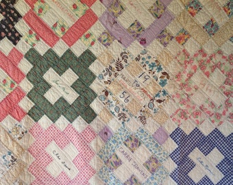 Antique Vintage FRIENDSHIP Quilt Very PRETTY