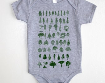 Tree Diagram Baby Onesie - American Apparel Baby Outfit - Available in 3-6MO, 6-12MO, 12-18MO