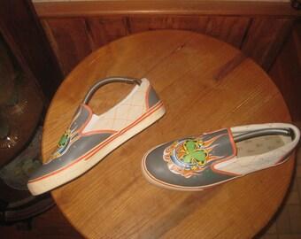 Good Luck     CHRISTIAN  AUDIGIER   Leather Slip-on Sneakers     Fits  Mens  US 12