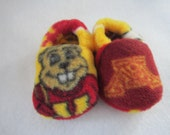Minnesota Gophers fleece baby booties
