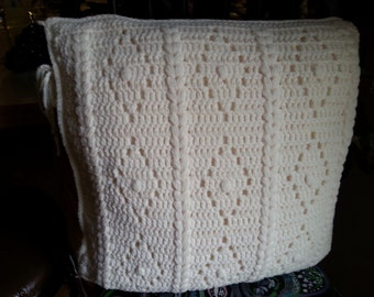 Afghan with matching pillow