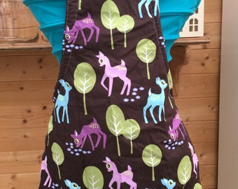 Childrens deer baking apron made by Sausage Cats