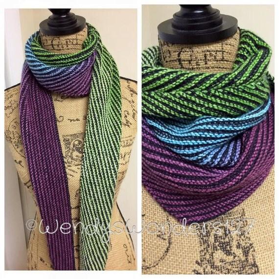 Multi Colored Scarf Knitting Pattern : Knitting Pattern Gradient Striped Scarf Pattern Scarf