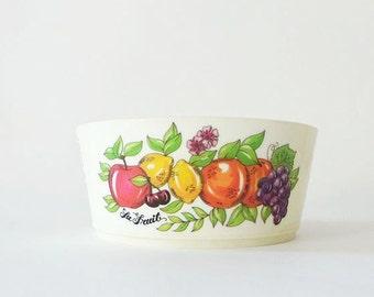 Vintage Deka Plastics La Fruit Cereal Bowl