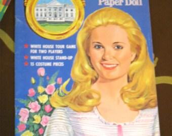 1970's Tricia Nixon Paper Dolls by Saalfield UNCUT