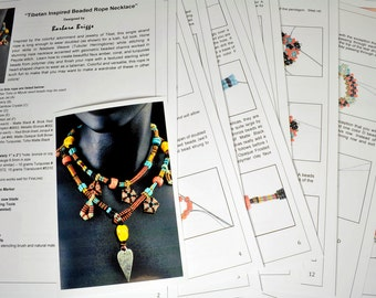 "Tutorial for the ""Tibetan Inspired Beaded Rope Necklace"""