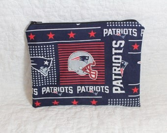 New England Patriots Zippered Pouch