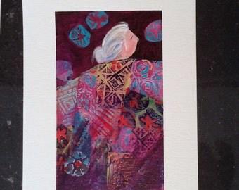 Quilt Art Lavender Series 3 original painting