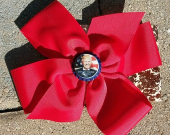 DONALD TRUMP for President 2016 Republican Hair Bow Ribbon by Mama Duck Creations