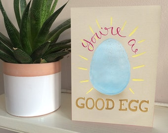 You're a good egg greetings card