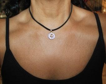 Star of David necklace, leather choker, leather necklace, silver Star of David, silver necklace, bat mitzva gift, bar mitzva gift