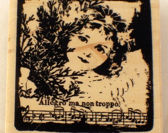 Stampington And Co Allegro Ma Non Troppo Little Girl Rubber Stamp #K5541