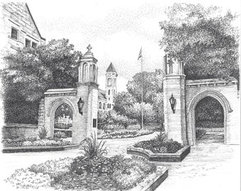 Sample Gates, IU< Bloomington,  digital file