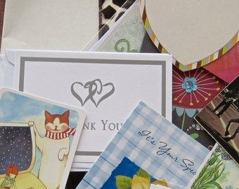Destash Tags Cards Envelopes Ephemera Lot of 15