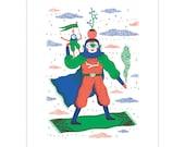 Cosmic Carpet Ride - Riso Print