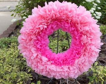 Pink Peony Flower Wreath