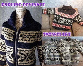 Made to Order Vintage Canadian Style Wool Sweater - Choice of Pattern!