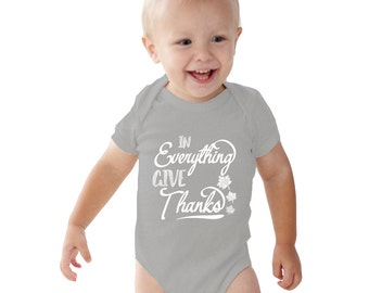 In Everything Give Thanks Baby Girl Heather bodysuit or Shirt