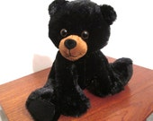 Black Bear Cubs for Sale With Music Box Movement Inside, 9 inch  - Plush Stuffed Animal  - Your Choice of Song