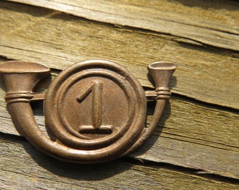 Antique Military Infantry Brass Mold or Unfinished Pin or Medal