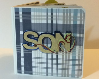 My son mini album scrapbook  premade pages chunky board book best friend cousins boy