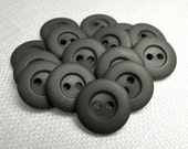 "Battleship Gray: 9/16"" (14mm) Buttons - Set of 15 New / Unused Matching Buttons"