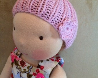 Knit Hat for 16-inch Waldorf Doll  **Tiny Dancer**