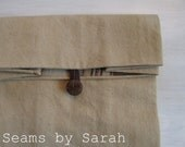 LARGE-  Manly Cloth lunch bag // Re-useable lunch sack // washable lunch bag