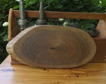 cutting board/ live edge/centerpiece /wood/ natural edge/ serving food board/ solid walnut