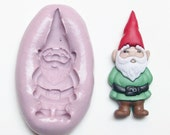 Gnome Mold # 1413 - silicone mold for crafts, jewelry, resin, porcelain, clay, candies, baking, plastic, metal and more uses.