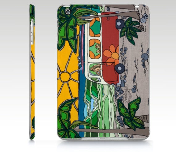 Phone Case Surf Mom in VW Bus at the Beach Surf Art Cell Phone Case by Lauren Tannehill Art
