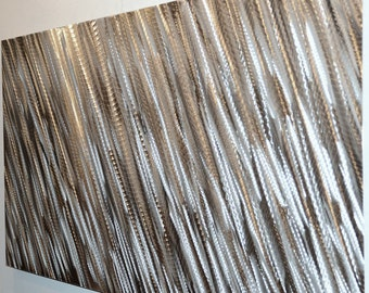 """47"""" modern METAL art wall decor abstract office home horizontal vertical SCULPTURE LED Halogen lights colour reflect hand made Lubo Naydenov"""