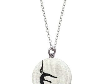 Sterling Silver Pole Dancer necklace
