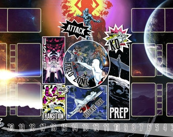 Silver Surfer Dice Masters Play Mat