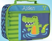 Lunchbox - Personalized and Embroidered - Fully Insulated - ALLIGATOR
