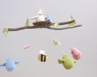 Baby Mobile, Bird Baby Mobile. Woodland Nursery Mobile, Bird Mobile, Bee Mobile, Woodland Crib Mobile, Bird Bee Mobile, Woodland Nursery