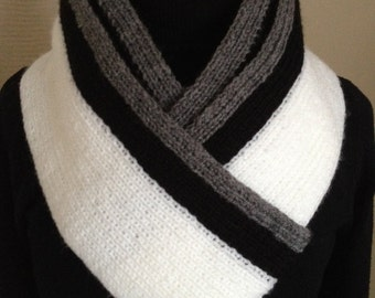 Stylish Hand Knitted Scarf For Men.Men's Accessory.Men's Scarves.
