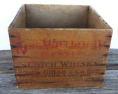 Wooden Crate King William IV Scotch Whisky John Gillon Scotland Renfield Imposters Newark New Jersey Primitive Farmhouse Industrial Decor