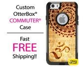 OTTERBOX Commuter iPhone 6 Plus 5 5S 5C 4/4S Samsung Galaxy S3 S4 S5 Note 2 3Case Henna Tattoo Brown Beige Antique Fashion Series A2