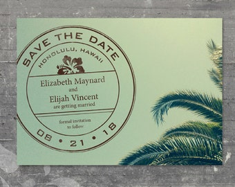 Printable Save the Date - Palm Tree Destination