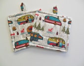 Camping Out Quilted Potholders